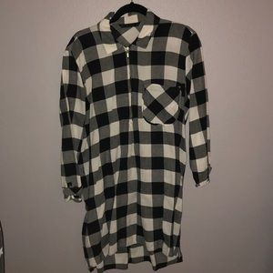 Zara Plaid Zipper Dress